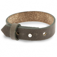 Cuoio armbanden leer 15 mm voor 20 mm cabochon Warm stone taupe