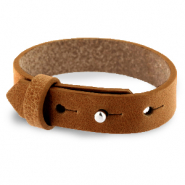 Cuoio armbanden leer 15 mm voor 20 mm cabochon Saddle brown
