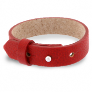 Cuoio armbanden leer 15 mm voor 20 mm cabochon Ruby red