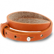 Cuoio armbanden leer 8 mm dubbel voor 12 mm cabochon Burnt orange