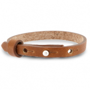 Cuoio armbanden leer 8 mm voor 12 mm cabochon Saddle brown