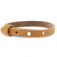 Cuoio armbanden leer 8 mm voor 12 mm cabochon Copper brown
