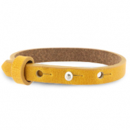Cuoio armbanden leer 8 mm voor 12 mm cabochon Honey yellow