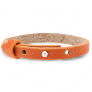 Cuoio armbanden leer 8 mm voor 12 mm cabochon Burnt orange