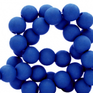 6 mm acryl kralen Royal blue