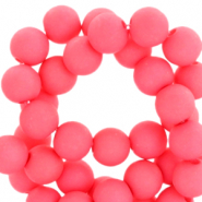 4 mm acryl kralen Hot coral pink
