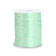 Satijn draad 1.5mm Neo mint green