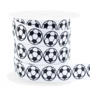 Elastisch lint football White-black