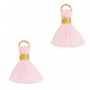 Kwastjes 1.5cm Gold-light pink