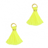 Kwastjes 1cm Gold-neon yellow