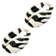 Schelp kralen specials Kauri Black-white tiger