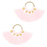 Kwastjes hanger Gold-light pink
