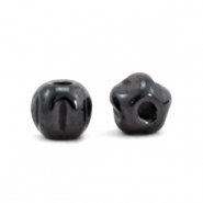 Hematite kralen 4mm Anthracite grey