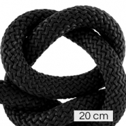 Maritiem koord 10mm (4x20cm) Black