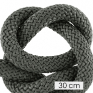 Maritiem koord 10mm (3x30cm) Dark grey