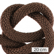 Maritiem koord 10mm (4x20cm) Dark brown