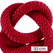 Maritiem koord 10mm (3x30cm) Bordeaux red