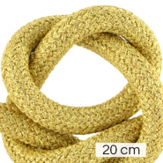 Maritiem koord 10mm (4x20cm) Metallic gold