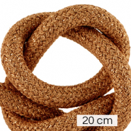 Maritiem koord 10mm (4x20cm) Metallic copper