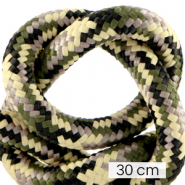 Maritiem koord 10mm (3x30cm) Multicolour army