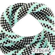 Maritiem koord 10mm (270cm) Multicolour turquoise black