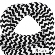 Maritiem koord 10mm (4x20cm) White-black