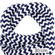 Maritiem koord 10mm (3x30cm) White-dark blue