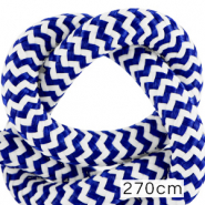 Maritiem koord 10mm (270cm) White-princess blue