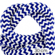 Maritiem koord 10mm (3x30cm) White-princess blue