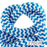 Maritiem koord 10mm (270cm) White-capri blue