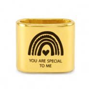 "Schuivers DQ metaal ""YOU ARE SPECIAL TO ME"" Mix & Match Goud (nikkelvrij)"