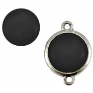 Cabochon Polaris shiny 20 mm Nero zwart