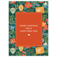 "Sieraden kaartjes ""Merry Christmas"" Multicolour-red"
