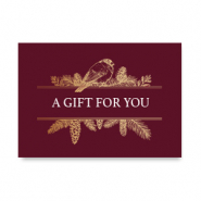 "Sieraden kaartjes ""A gift for you"" Red"