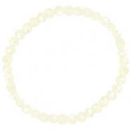 Top facet armbandjes 6x4mm Off white-pearl shine coating
