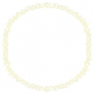 Top facet armbandjes 4x3mm Off white-pearl shine coating