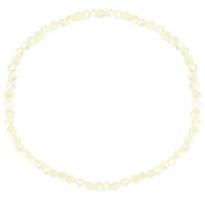 Top facet armbandjes 3x2mm Off white-pearl shine coating