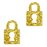 Plexx bedels lock glitter Golden yellow