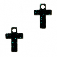 Plexx bedels cross shimmery Black