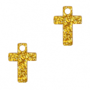 Plexx bedels cross glitter Golden yellow