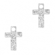 Plexx bedels cross glitter Silver