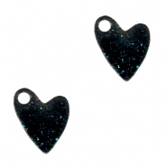 Plexx bedels heart shimmery Black