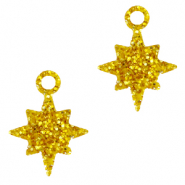 Plexx bedels star glitter Golden yellow