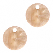 Resin hangers rond 12mm Beige brown