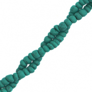 Kokos kralen disc 4mm Viridian green