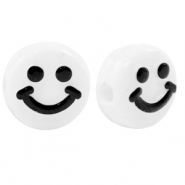 Letterkralen van acryl smiley White-black
