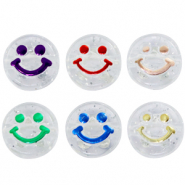 Letterkralen van acryl smiley Transparent-multicolour