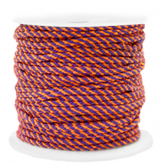 Maritiem koord 2mm Orange-purple