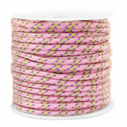 Maritiem koord 2mm Pink-yellow
