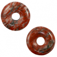 Natuursteen hangers disc Rusty red